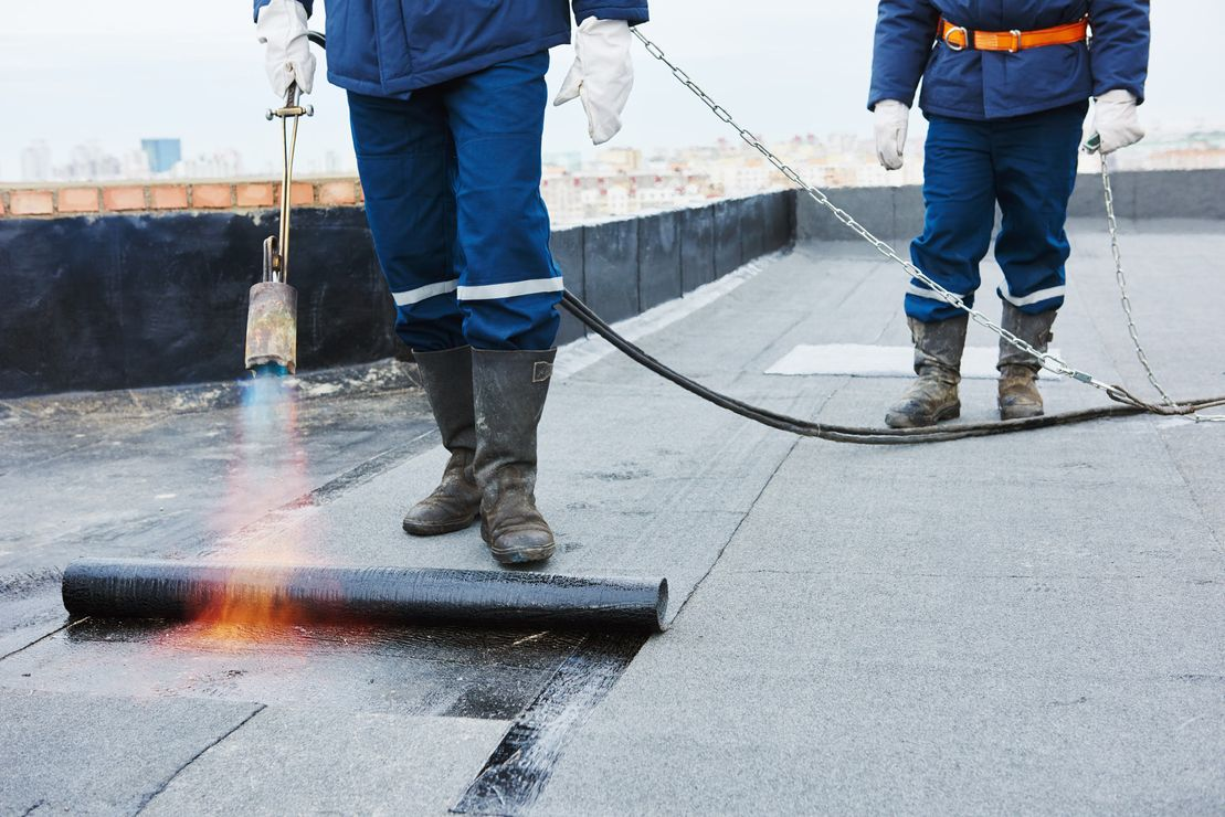 flat roof repair - torch